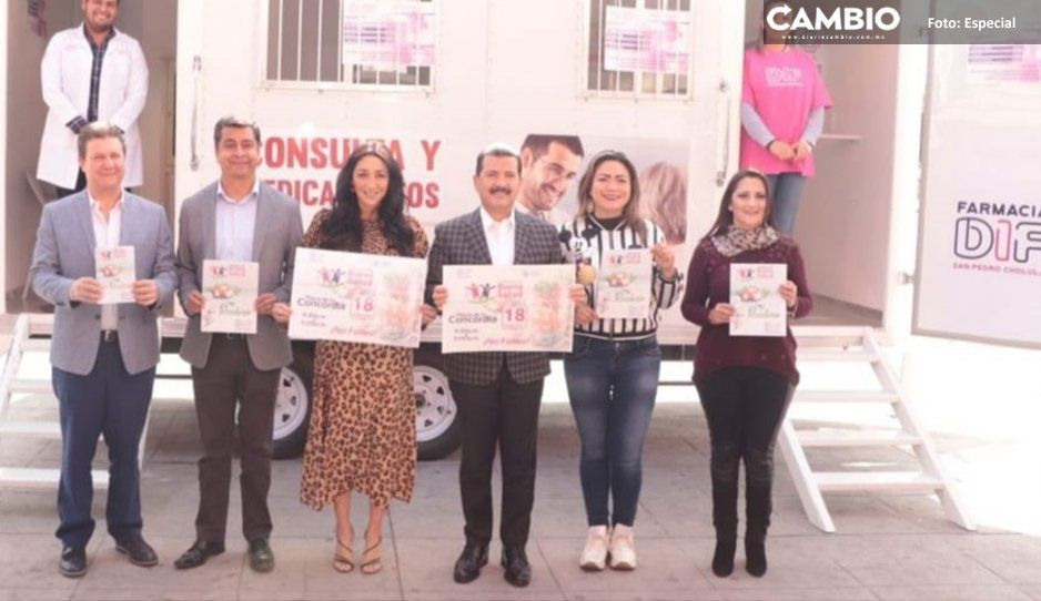 DIF de San Pedro Cholula lleva farmacia y consultorio móvil a 13 juntas auxiliares