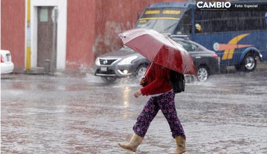 ¡Alista el paraguas! Continuarán lluvias en Puebla por Tormenta Tropical Narda