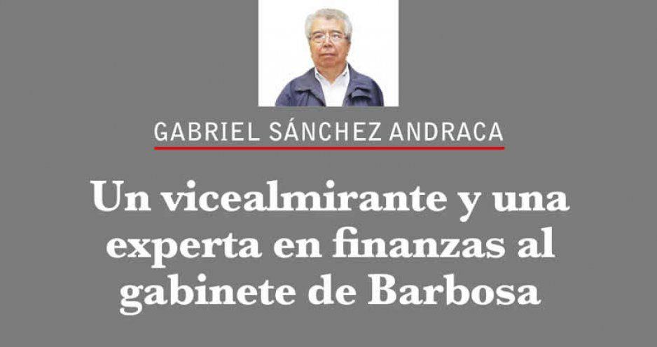 Un vicealmirante y una experta en finanzas al gabinete de Barbosa