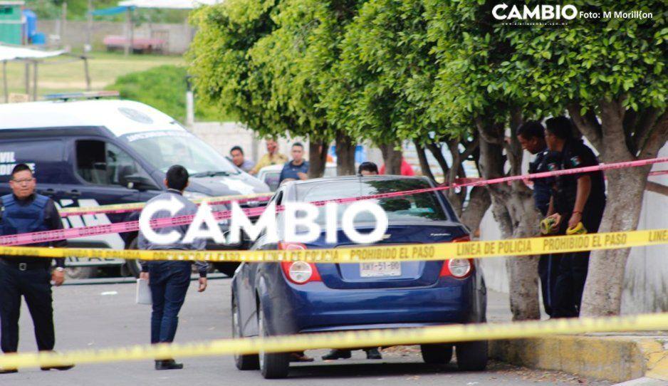 Abandonan Sonic con placas de Tlaxcala involucrado en balacera de Camino Real a San Jerónimo (VIDEO)