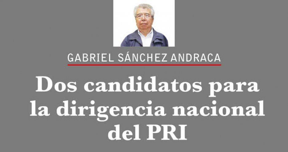 Dos candidatos para la dirigencia nacional del PRI