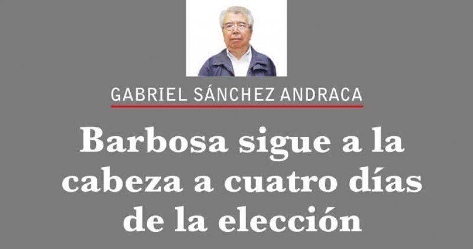 Barbosa sigue a la cabeza a cuatro días de la elección
