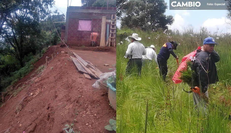 Decenas de familias están en riesgo por las lluvias en Tochimilco