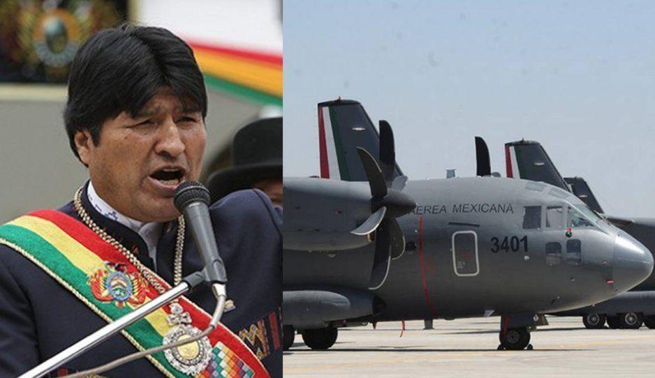 Por órdenes de AMLO, avión militar mexicano va por Evo a Bolivia