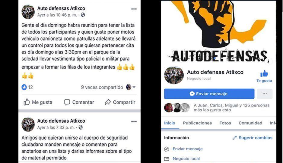 """Habitantes de Atlixco crean un frente de defensa en redes sociales para """"hacer justicia"""""""