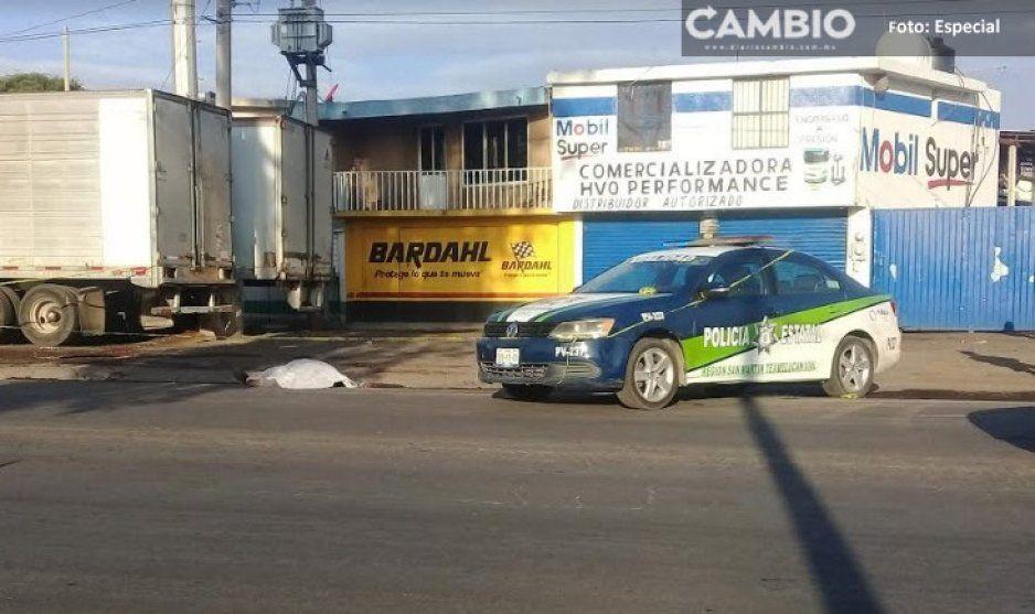 Otro ejecutado en Texmelucan, el cuerpo está sobre la Carretera Federal México-Puebla