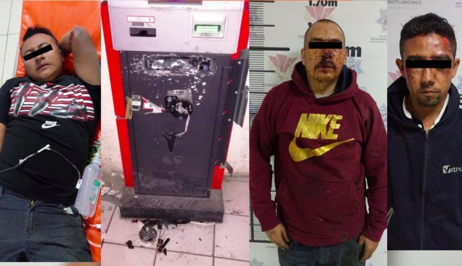 Elementos policiacos frustran robo a cajero automáticos en Cuautlancingo