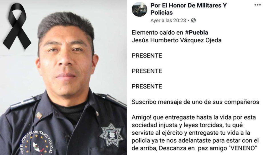 """Amigos se despiden con conmovedores mensajes del """"Veneno"""", poli asesinado en Minerales del Sur"""