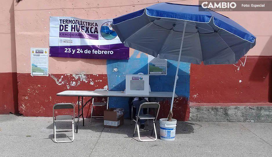 Baja participación ciudadana en Consulta de Huejotzingo