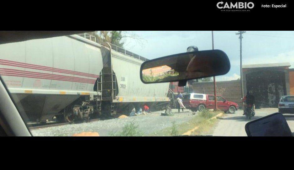 Saquean por segunda vez en esta semana tren en Cañada Morelos