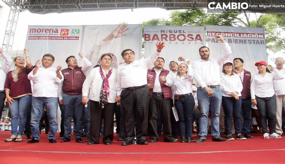 Barbosa cierra campaña en Tehuacán: ya gané en 2018 y lo volveré a hacer