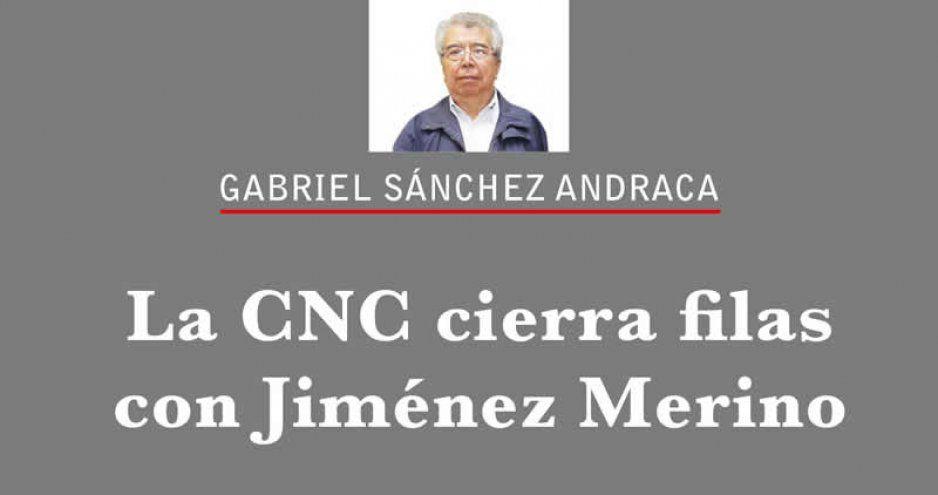 La CNC cierra filas con Jiménez Merino