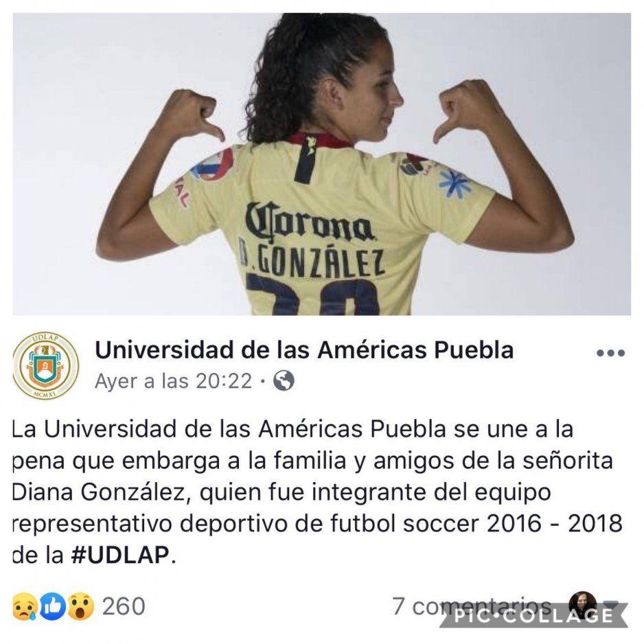 Diana González falleció por hipoglucemia; jugó en el equipo representativo de la UDLAP