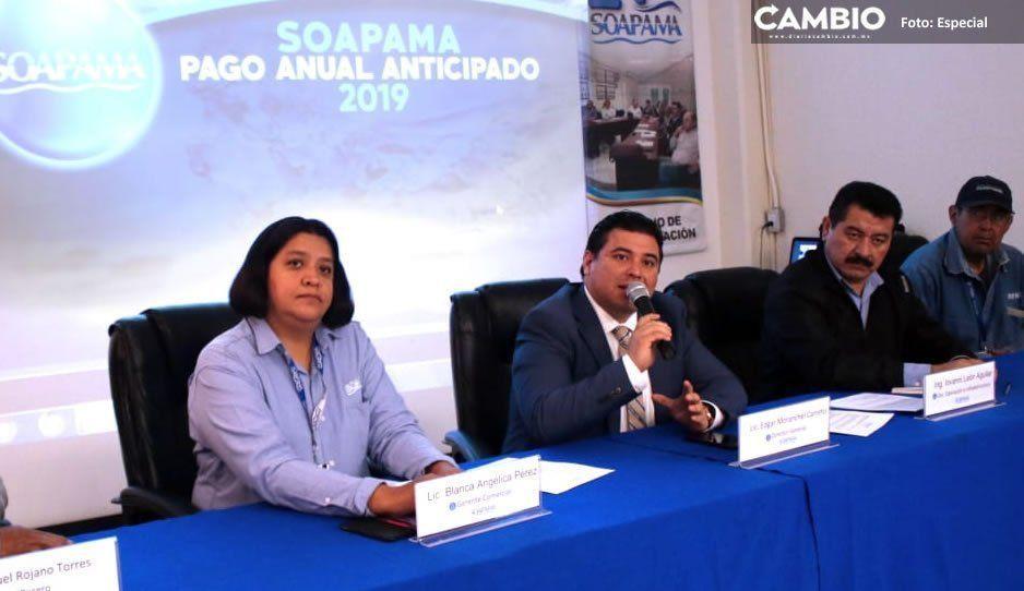 Pagos de servicio de agua servirán para rehabilitar las tuberías: Soapama