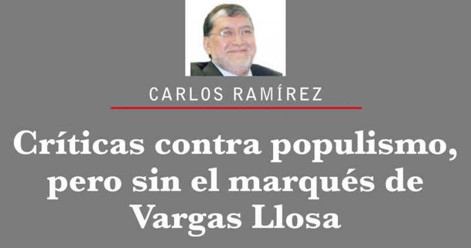 Críticas contra populismo, pero sin el marqués de Vargas Llosa