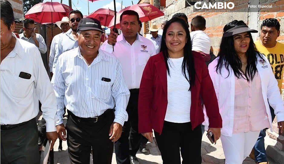 Lupita Daniel da banderazo de arranque a cuatro obras sociales en Cuautlancingo