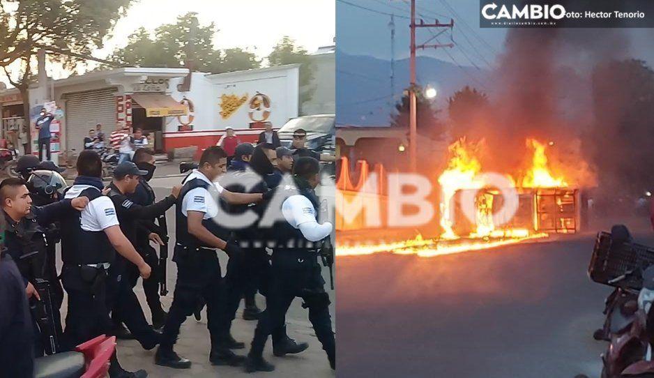 Policías salvan a ladrón de ser linchado y pobladores enfurecidos queman patrulla en El Verde (VIDEOS)