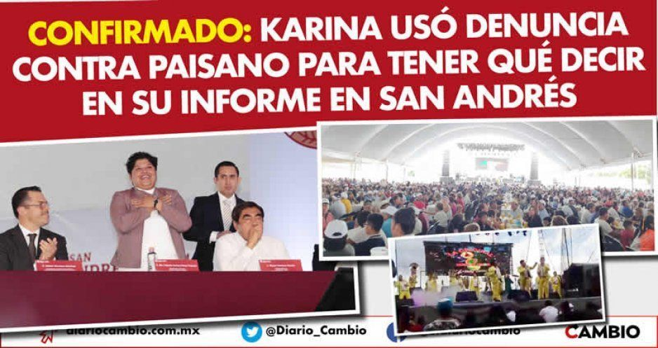Confirmado: Karina usó denuncia contra Paisano para tener qué decir en su informe en San Andrés (VIDEO)