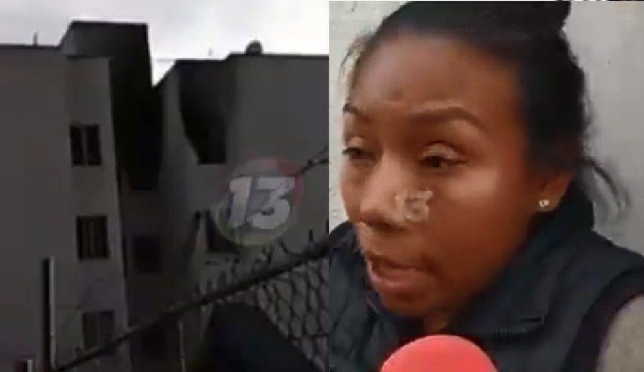 Entre lágrimas Katy narra que su pareja sentimental quemó su casa en San Jerónimo Caleras (VIDEO)