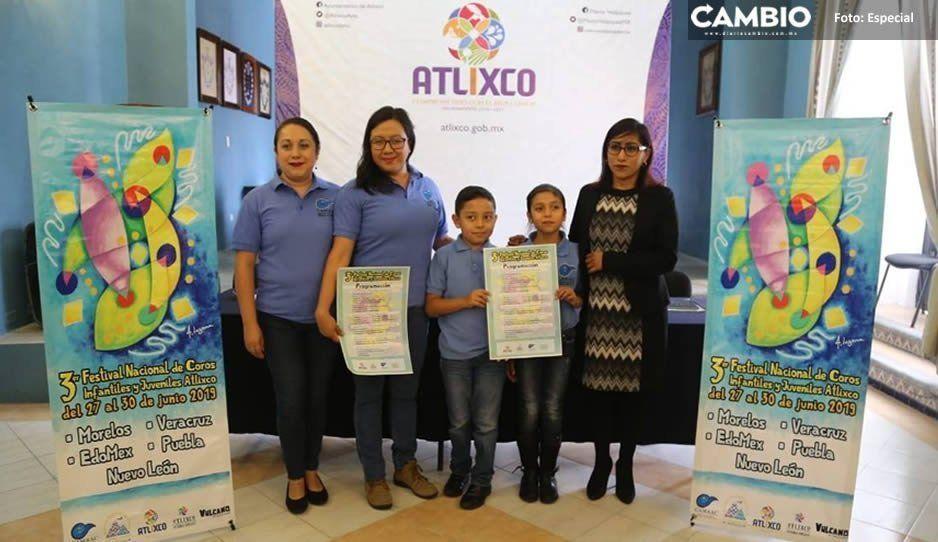 Presentan Tercer Festival Nacional de Coros en Atlixco
