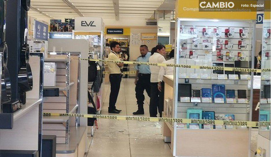Asaltan Coppel en la Federal a Tehuacán y se llevan más de 100 celulares