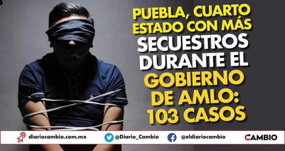Puebla, cuarto estado con más secuestros durante el gobierno de AMLO: 103 casos