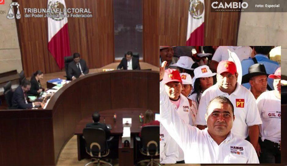 TEPJF niega candidatura a Manuel Gil, candidato a la presidencia de Tepeojuma