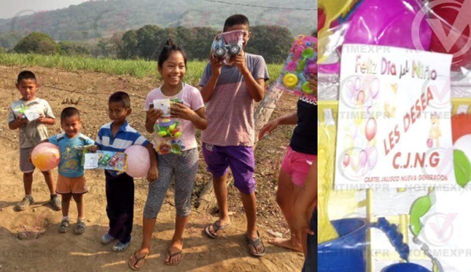 ¿El CJNG es tan malo? Regala juguetes a criaturitas en Veracruz
