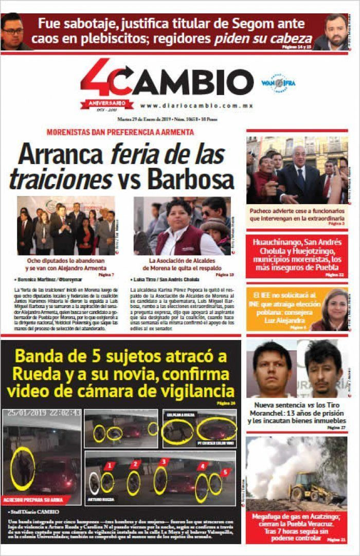 Arranca feria de las traiciones vs Barbosa