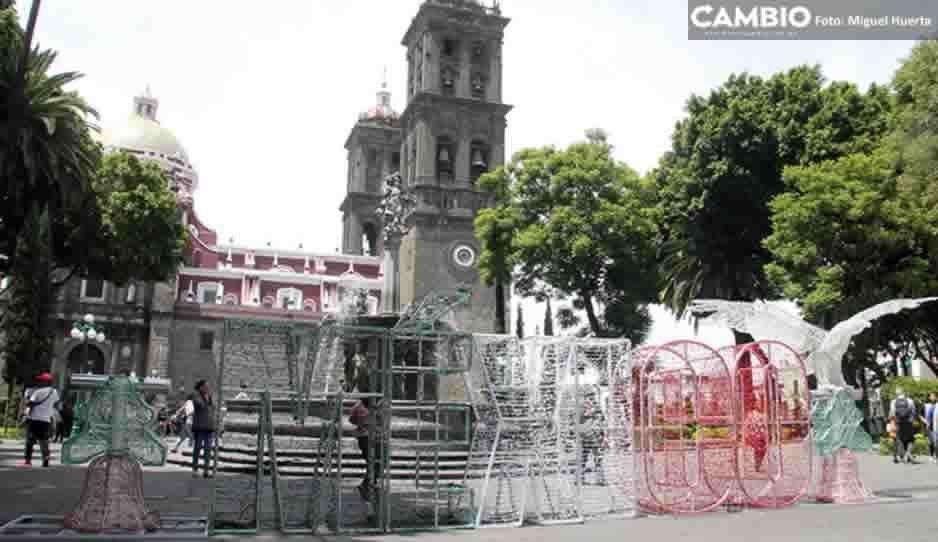 Inicia la colocación de adornos lumínicos para las fiestas patrias en el Centro Histórico
