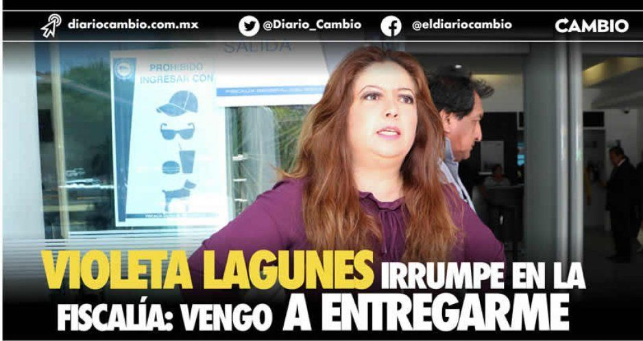 Violeta Lagunes irrumpe en la Fiscalía: vengo a entregarme (VIDEOS)