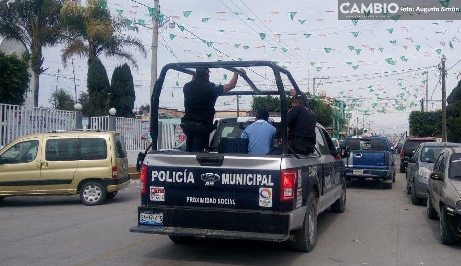 Oficial de Tochtepec dispara por accidente a sus compañeros: hay tres heridos