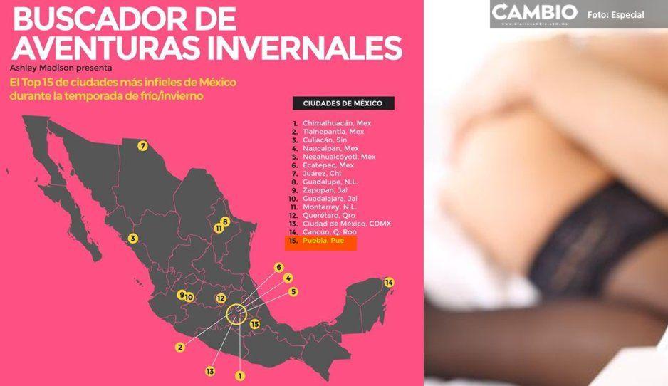 ¡Cobija humana en invierno! Puebla en el top de ciudades con más infieles navideños