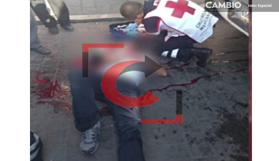 Por 50 pesos, casi matan a chófer de microbús de Huauchinango