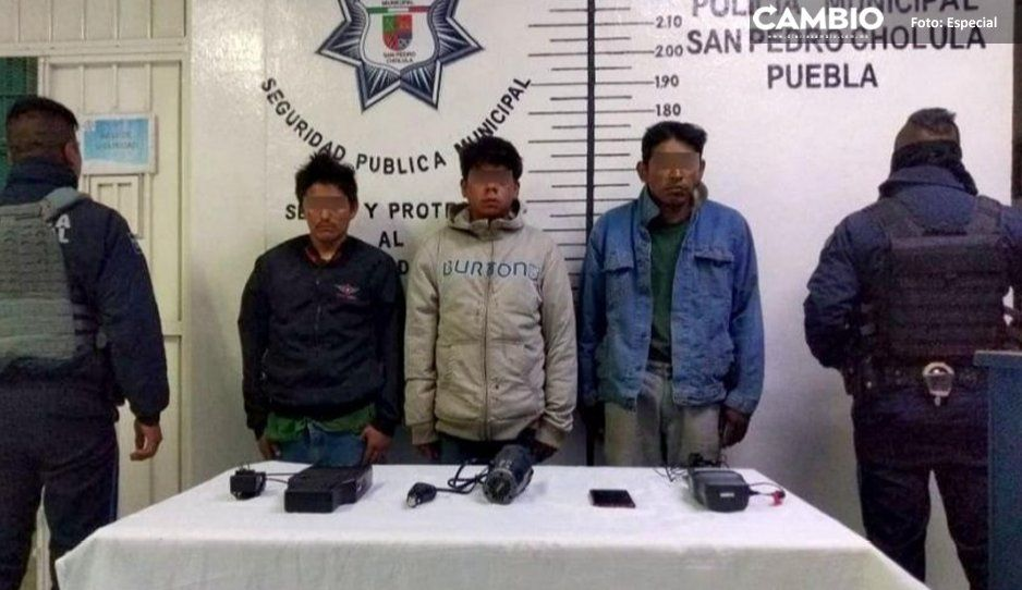 Recupera Policía municipal de San Pedro  Cholula unidad robada por huachicoleros