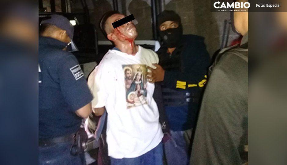 Capturan y dan brutal golpiza a ratero en Izúcar de Matamoros