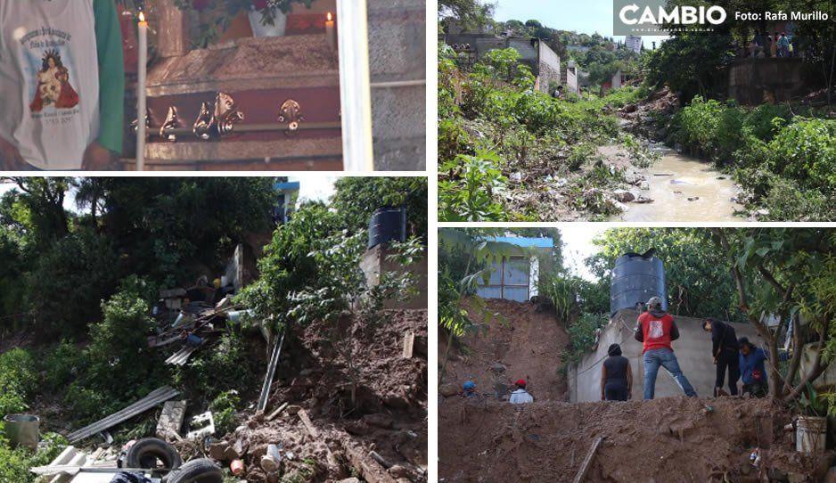 Dolor en Santo Tomás Chautla: Familia sepultada en lodo vivía en zona prohibida, junto al cerro y un río (FOTOS)