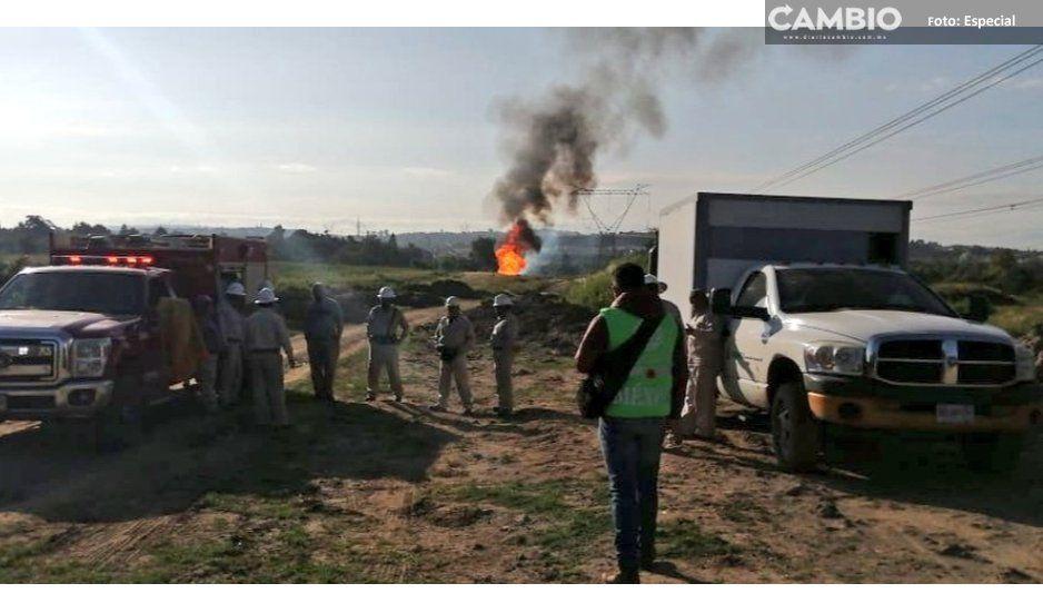 Suspenden desfile en dos comunidades de Cuautlancingo por explosión de toma clandestina