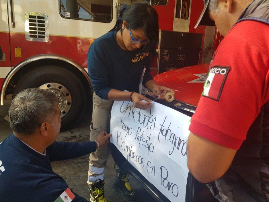 Pese a protesta no hay dinero para la direcciòn de PC y Bomberos Tehuacán, trabajan sin unidades, ni equipo