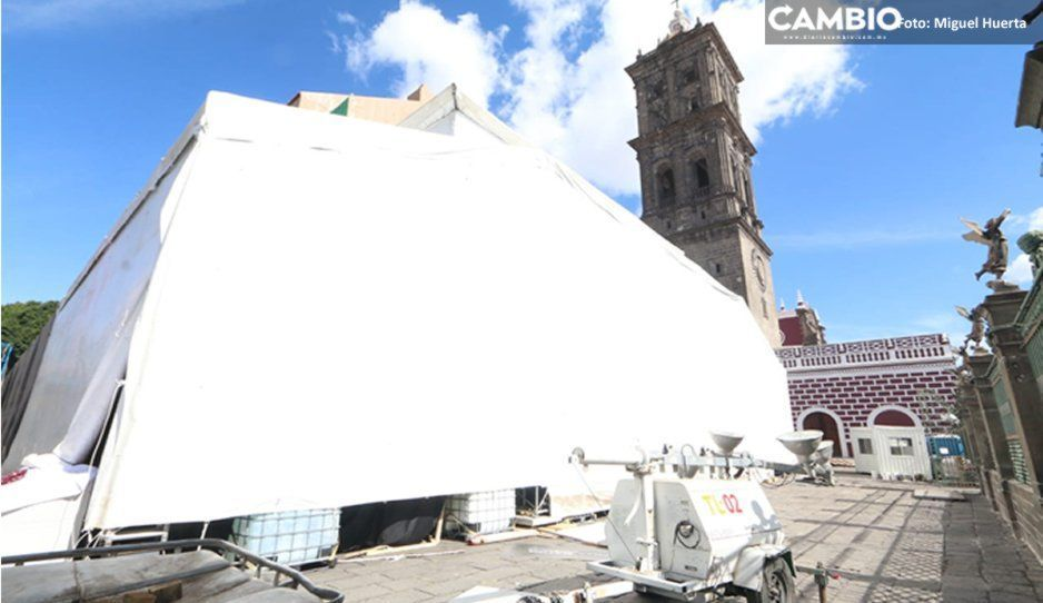 Afinan últimos detalles para la inauguración de la Capilla Sixtina en el atrio de la Catedral