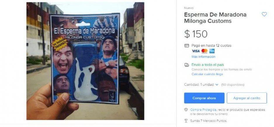 Sale a la venta el esperma de Diego Maradona ¡llévele, llévele!