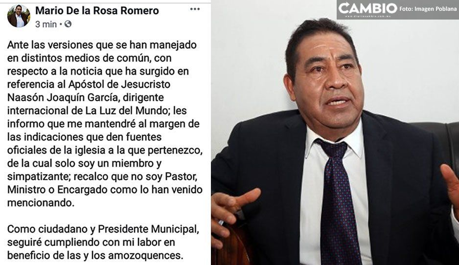 Alcalde de Amozoc reniega de la Luz del Mundo tras detención de su líder por pederasta ¡Traidor!