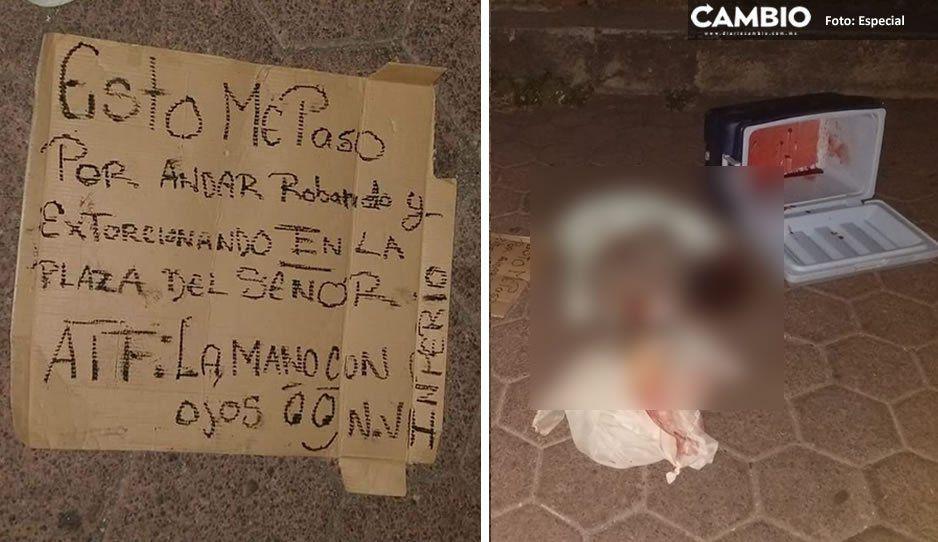 Desmembrado, encobijado y con narcomensaje localizan cuerpo en Huejotzingo