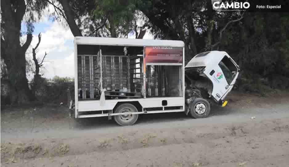 Roban camión completo de cerveza y arman una fiestota en Tecamachalco