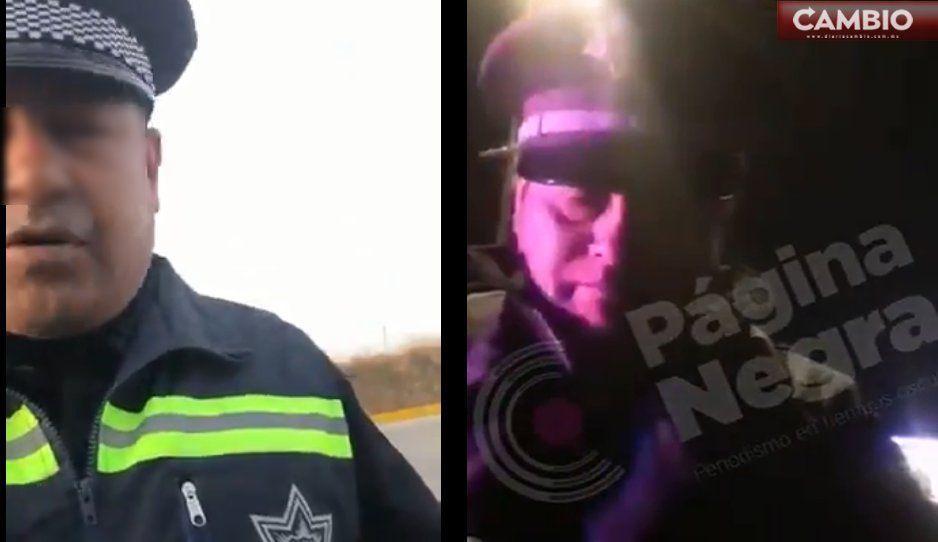 VIDEOS: Captan a oficiales extorsionando en San Andrés Cholula