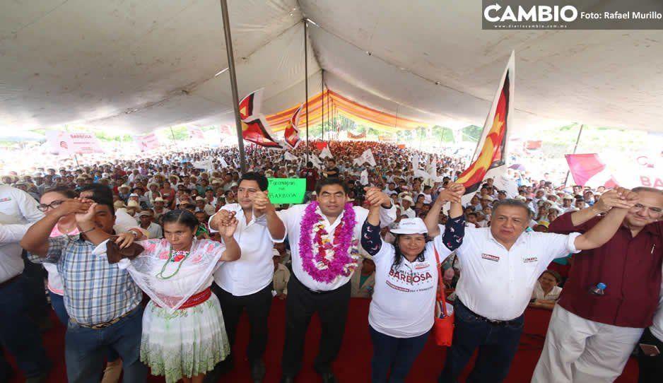 Barbosa ofrece inversión al campo e integración de pueblos originarios