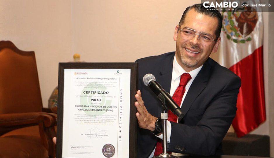 TSJ obtiene certificación de la Secretaría de Economía por agilizar procesos de juicios orales