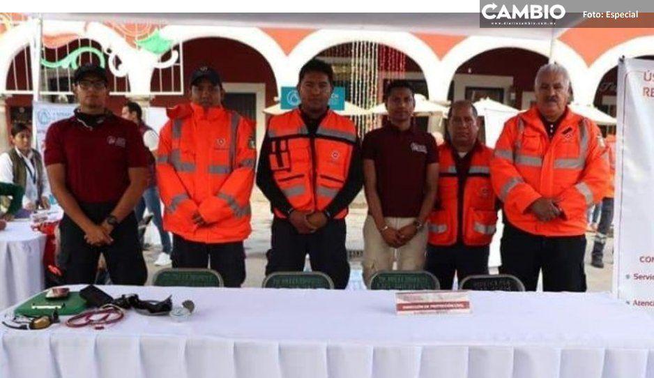 Prepara Protección Civil de San Pedro Cholula operativo para minimizar riesgos de pirotecnia