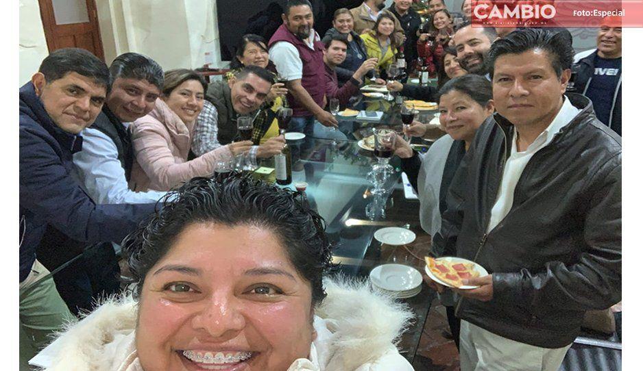 ¡Lo que le faltaba! Karina Pérez y gabinete convierten sala de cabildo en cantina