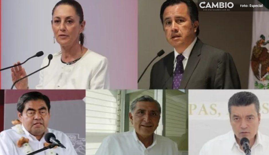 Barbosa y 4 góbers más se comprometen a no intervenir en elecciones internas de Morena